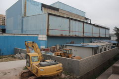 La chiusura della fabbrica a SHENZHEN, CINA Fotografia Stock Libera da Diritti