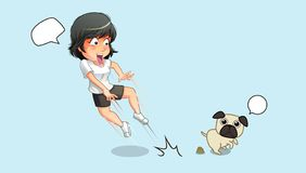La chocan para el perro y las heces stock de ilustración