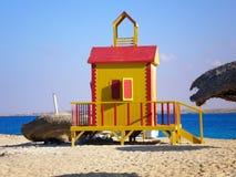 La choza de la playa Imagen de archivo