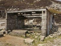 La choza vieja de los albañiles de piedra Fotos de archivo