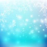 La chute de neige avec l'élément de bokeh et d'éclairage soustraient le fond Images libres de droits