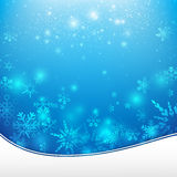 La chute de neige avec l'élément de bokeh et d'éclairage soustraient le fond Images stock
