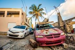 La chute non désirée de voiture sur la rue a laissé seul photographie stock libre de droits