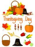 La chute réglée objecte le thanksgiving Photo libre de droits