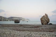 La Chypre, baie d'Afrodita photographie stock libre de droits