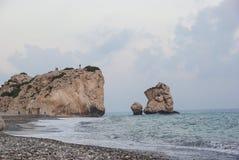 La Chypre, baie d'Afrodita photos libres de droits