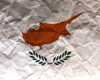 La Chypre a chiffonné le drapeau texturisé de papier - Photographie stock libre de droits