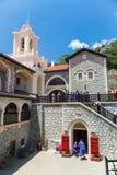 La Chypre, - 27 mai 2014 : La vue sur le monastère de Kykkos est l'un des monastères les plus riches et les plus connus en Chypre Photo stock