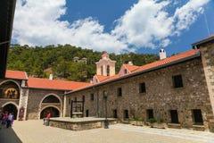 La Chypre, - 27 mai 2014 : La vue sur le monastère de Kykkos est l'un des monastères les plus riches et les plus connus en Chypre Photo libre de droits