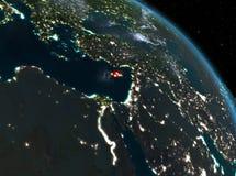La Chypre la nuit d'orbite Photographie stock