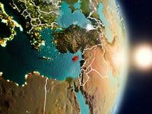 La Chypre pendant le lever de soleil Photo stock