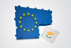 La Chypre a retiré de l'Union européenne Photo stock