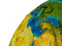 La Chypre sur le globe Photographie stock libre de droits