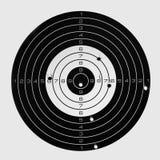 La cible après le tir précis, a frappé la boudine photographie stock libre de droits