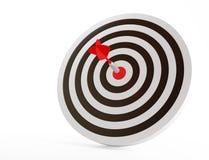 La cible avec le dard rouge Photos stock