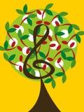 La ciliegia di musica nota l'albero Fotografia Stock Libera da Diritti