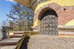 La cima della torre di rovina in Catherine Park in Tsarskoye Selo Immagine Stock Libera da Diritti