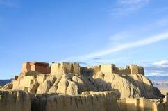 La cima delle rovine di dinastia di Guge nel Tibet Fotografie Stock Libere da Diritti