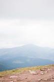 La cima di Hoverla Fotografie Stock