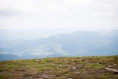 La cima di Hoverla Fotografia Stock