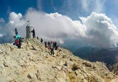 La cima di più alta montagna della Slovenia - Triglav Immagini Stock