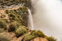 La cima di Tugela cade, la seconda cascata più alta su terra Immagini Stock