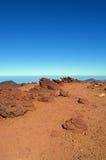 La cima rocciosa di Haleakala Fotografie Stock