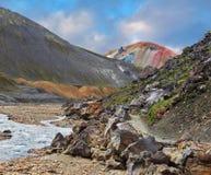 La cima rosa della montagna Fotografie Stock Libere da Diritti