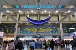 La CIN d'aéroport international d'Incheon à Séoul Photos libres de droits