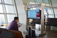 La CIN d'aéroport international d'Incheon à Séoul Photo stock