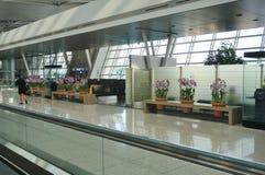 La CIN d'aéroport international d'Incheon à Séoul Image libre de droits