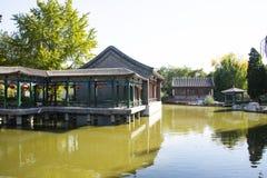 La Cina, Asia, Pechino, il grande giardino di vista, costruzioni antiche Fotografia Stock Libera da Diritti