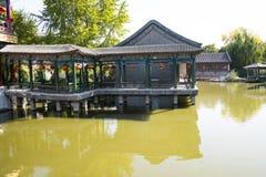 La Cina, Asia, Pechino, il grande giardino di vista, costruzioni antiche Immagini Stock Libere da Diritti