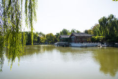 La Cina, Asia, Pechino, il grande giardino di vista, costruzioni antiche Fotografie Stock
