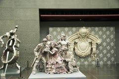 La Cina Asia, Pechino, il grande teatro nazionale, scultura dell'interno Fotografia Stock Libera da Diritti