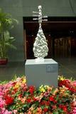 La Cina Asia, Pechino, il grande teatro nazionale, scultura dell'interno Fotografie Stock