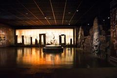 La Cina Asia, Pechino, il museo capitale, reliquie della Kampuchea Angkor e Art Exhibition Fotografia Stock Libera da Diritti
