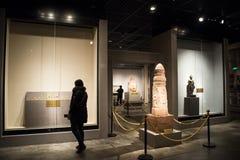 La Cina Asia, Pechino, il museo capitale, reliquie della Kampuchea Angkor e Art Exhibition Immagini Stock Libere da Diritti