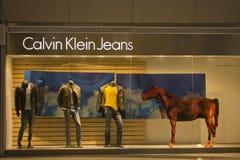 La Cina: Calvin Klein Jeans Immagini Stock