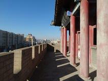 La Cina Dalian in Liaoning wafangdian indica la torre del yongfeng Fotografia Stock