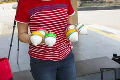 La Cina, giocattoli tradizionali, cima di legno, gioco da bambini Immagine Stock Libera da Diritti