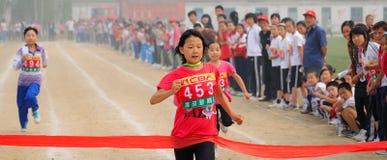 La Cina: Giochi/sprint dell'atletica leggera dell'allievo Immagine Stock