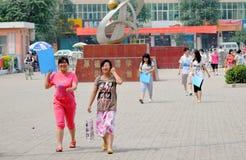 La Cina: gli allievi catturano l'esame Immagini Stock Libere da Diritti