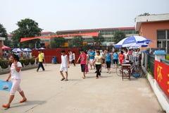 La Cina: gli allievi catturano l'esame Fotografia Stock