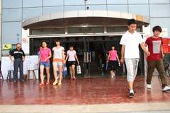 La Cina: gli allievi catturano l'esame Fotografia Stock Libera da Diritti