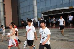 La Cina: gli allievi catturano l'esame Fotografie Stock