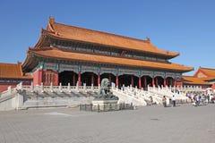 La Cina Pechino Città severa Il Corridoio di armonia suprema Fotografia Stock Libera da Diritti