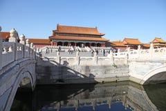 La Cina Pechino Città severa Il Corridoio di armonia suprema Fotografia Stock