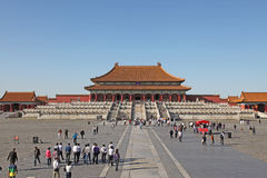 La Cina Pechino Città severa Il Corridoio di armonia suprema Immagini Stock