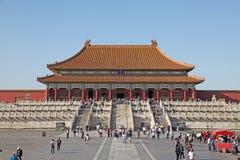 La Cina Pechino Città severa Il Corridoio di armonia suprema Fotografie Stock Libere da Diritti
